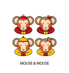 Mouse Chinese vector image
