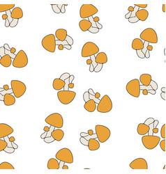 mushroom orange pattern seamless vector image