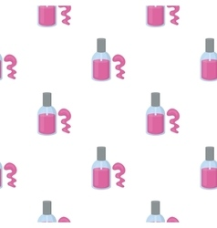 Nail polish icon in cartoon style isolated on vector