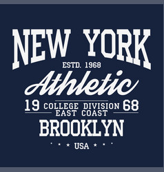 New york brooklyn typography badge for t-shirt vector