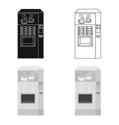 office coffee vending machine icon in cartoon vector image