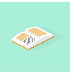 Open book isometric color vector image