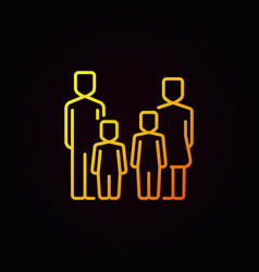 parents and kids yellow icon vector image