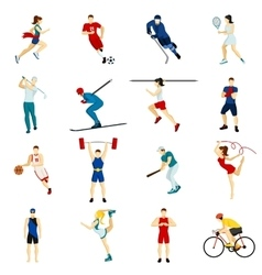 People Sport Icon Set vector image
