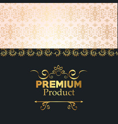 Premium quality golden frame vector