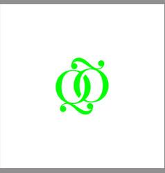 Q letter logo creative design on black color vector