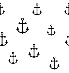 seamless sea pattern in anchor vector image