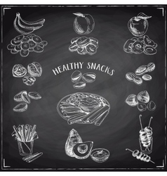 Set of healthy snacks vector
