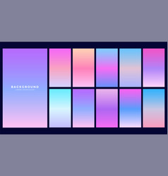 Set of hologram gradients design vector