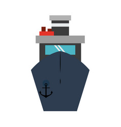 ship frontview symbol vector image