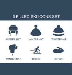 ski icons vector image