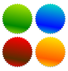 Starburst shaped badge button shape with vector