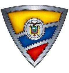 steel shield with flag ecuador vector image