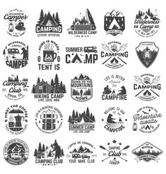 summer camp concept for shirt or patch vector image