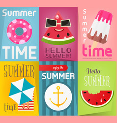 summer posters vector image