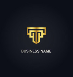 T initial business logo vector