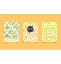 Template ethnic creative cards vector image