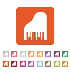 The piano icon Music and pianist musician vector