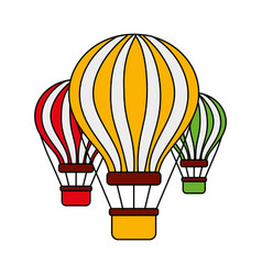 three airballoons travel recreation tourism vector image