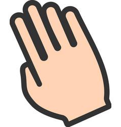 Tilted Hand vector