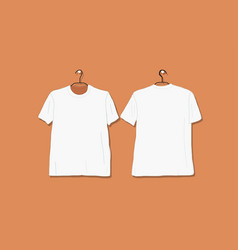 Tshirt mockup white for your design vector