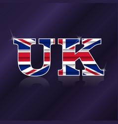 Uk flag symbol vector