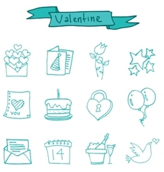 valentine day element vector image