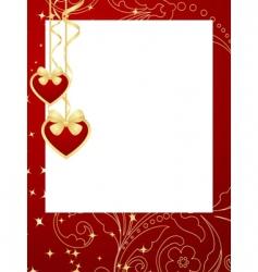 valentines frame background vector image