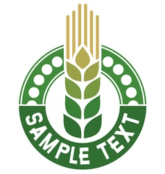 wheat sign - badge vector image