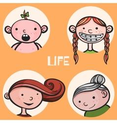 Woman life cycle vector image vector image