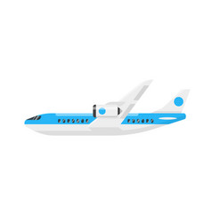 flat style of plane vector image