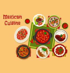 Mexican cuisine traditional lunch icon design vector