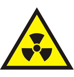nuclear radiation symbol - radioactive sign in vector image