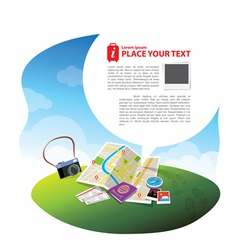 Travel Kits with Speech bubble vector image