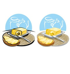 butter and sandwich vector image