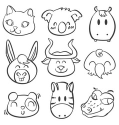 doodle of animal hand draw vector image vector image
