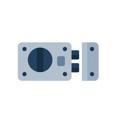 House door lock access equipment icon vector
