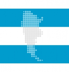 map and flag of argentina vector image vector image