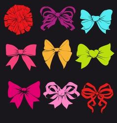 Set of bright bows vector image