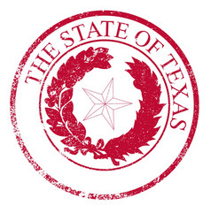 texas state rubber stamp seal vector image