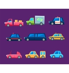 Toy Colorful Different Service Cars Set vector image vector image