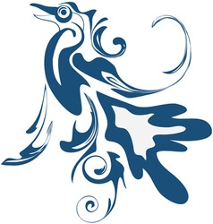 abstract blue bird vector image vector image