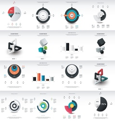 chart infographics template design vector image
