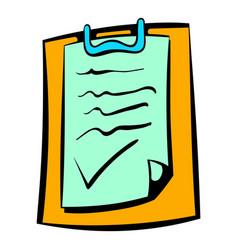 contract icon icon cartoon vector image vector image