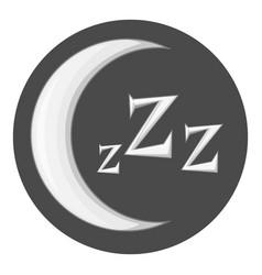 night icon monochrome vector image