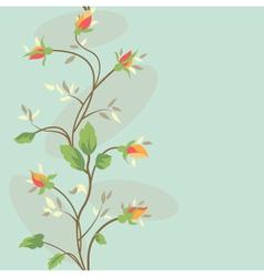 Seamless vintage flower border pattern vector