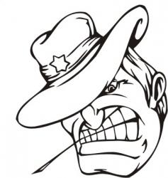 sheriffmascot templates vector image vector image