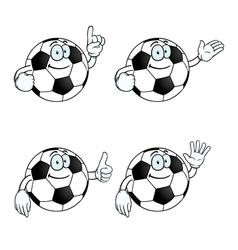 Smiling cartoon football set vector image vector image