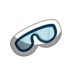 snowboarding glasses isolated icon vector image vector image