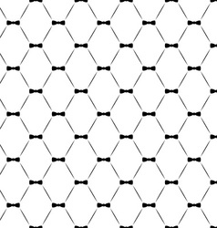 Tie bow seamless pattern monochrome vector image vector image